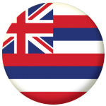 Hawaii State Flag 58mm Mirror Keyring